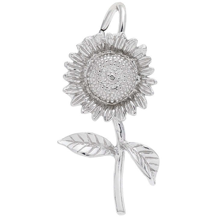 Rembrandt Charms 14K White Gold Sunflower Charm Pendant