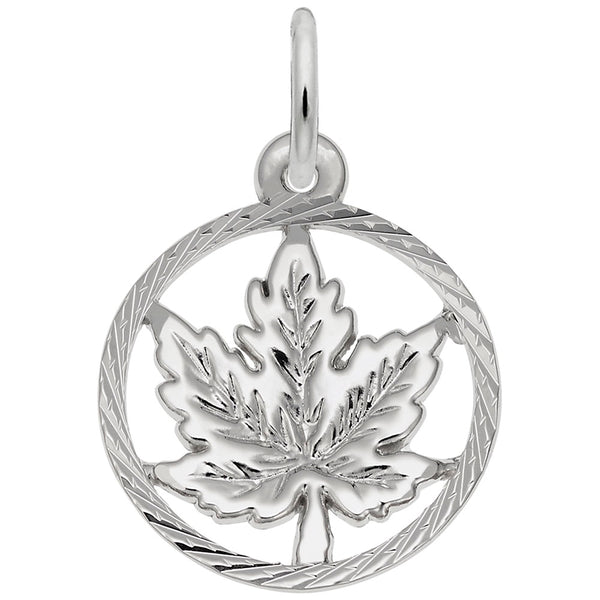 Rembrandt Charms Maple Leaf Charm Pendant Available in Gold or Sterling Silver