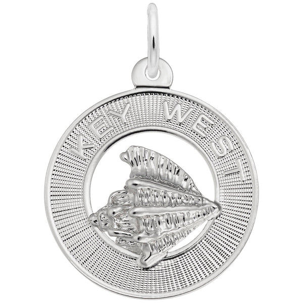 Rembrandt Charms Key West Charm Pendant Available in Gold or Sterling Silver