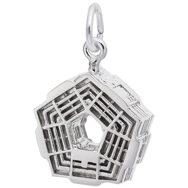 Rembrandt Charms Pentagon Charm Pendant Available in Gold or Sterling Silver
