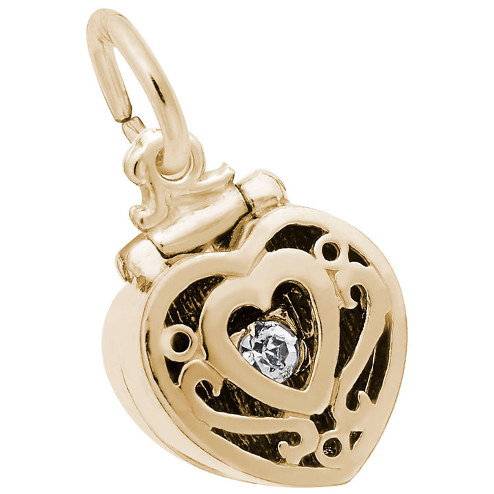 Rembrandt Charms 14K Yellow Gold Ring Box Charm Pendant