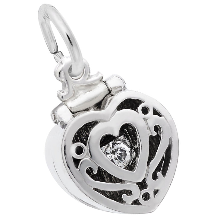 Rembrandt Charms 925 Sterling Silver Ring Box Charm Pendant