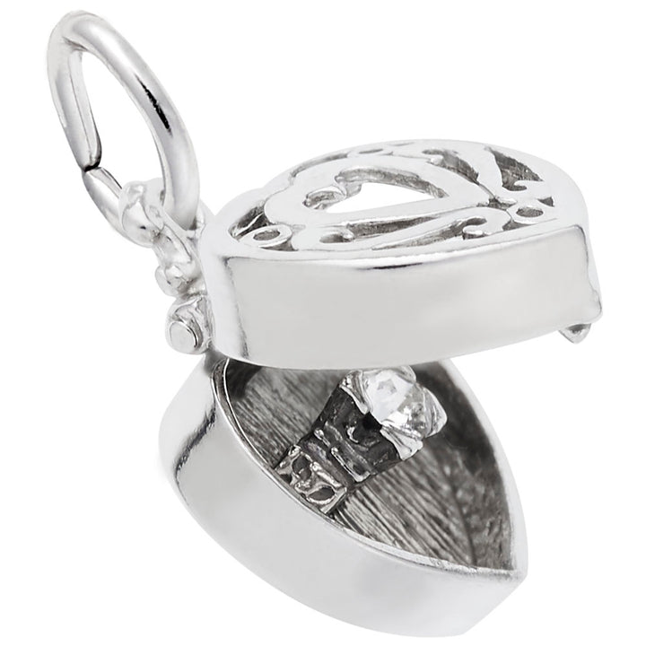 Rembrandt Charms Ring Box Charm Pendant Available in Gold or Sterling Silver