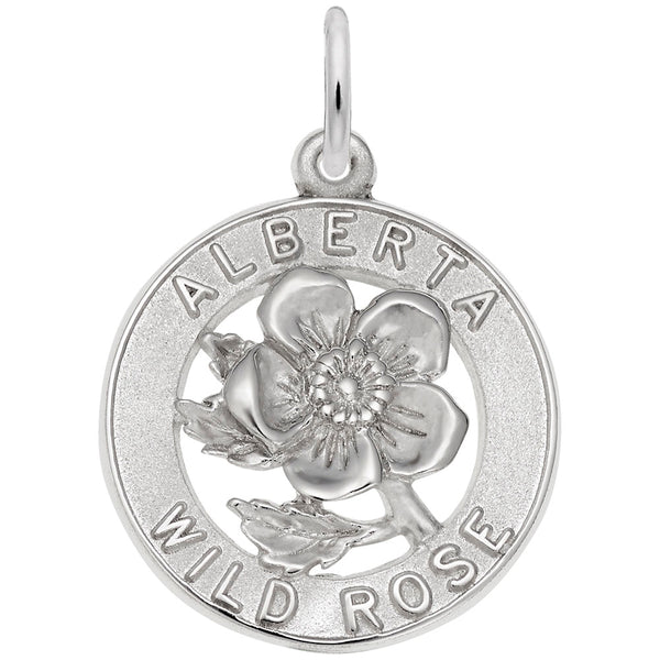 Rembrandt Charms Alberta Rose Charm Pendant Available in Gold or Sterling Silver