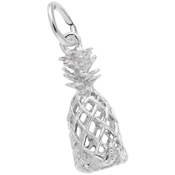 Rembrandt Charms Pineapple Charm Pendant Available in Gold or Sterling Silver