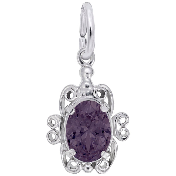 Rembrandt Charms 06 Birthstone June Charm Pendant Available in Gold or Sterling Silver