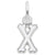 Rembrandt Charms Init-X Charm Pendant Available in Gold or Sterling Silver