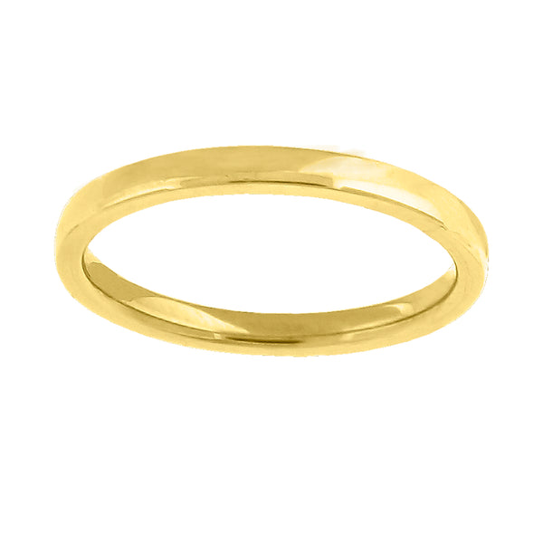 14kt Gold Unisex Dome Polished Comfort-fit 2mm Wedding Engagement Band Ring