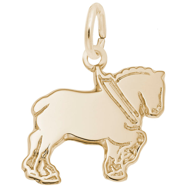 Rembrandt Charms Gold Plated Sterling Silver Clydesdale Charm Pendant