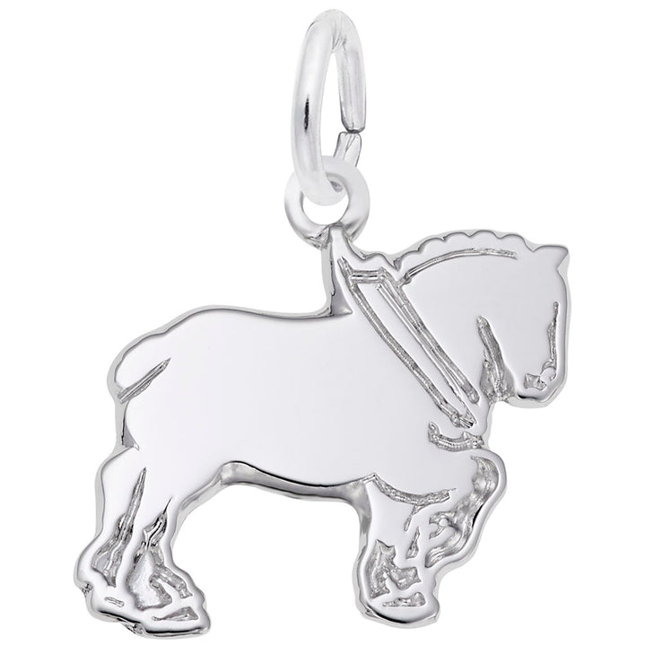 Rembrandt Charms Clydesdale Charm Pendant Available in Gold or Sterling Silver