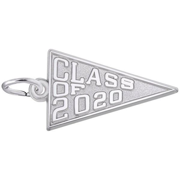Rembrandt Charms Class Of 2020 Charm Pendant Available in Gold or Sterling Silver