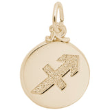 Rembrandt Charms Gold Plated Sterling Silver Sagittarius Charm Pendant