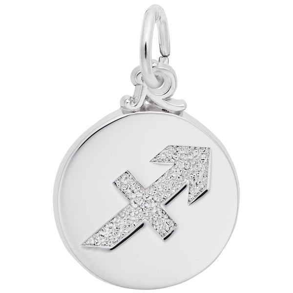 Rembrandt Charms Sagittarius Charm Pendant Available in Gold or Sterling Silver