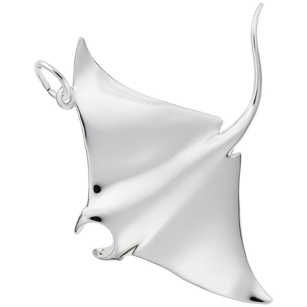 Rembrandt Charms Manta Ray Charm Pendant Available in Gold or Sterling Silver