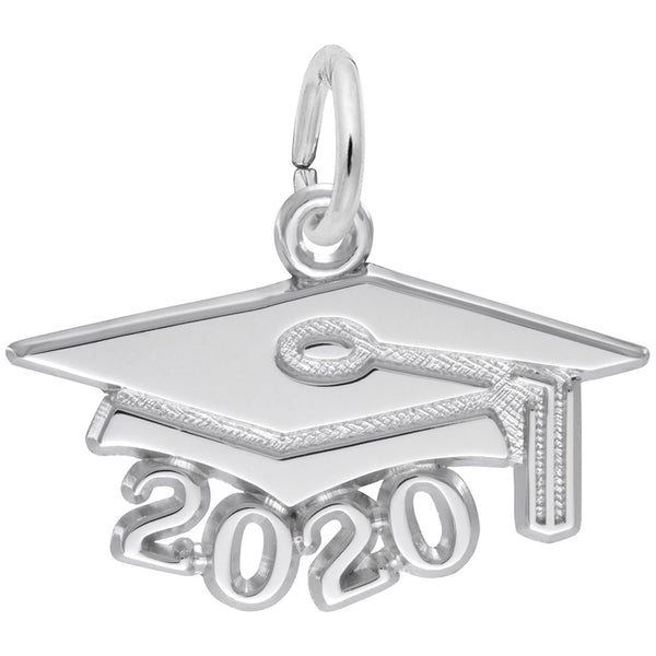 Rembrandt Charms Grad Cap 2020 Large Charm Pendant Available in Gold or Sterling Silver