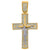 10kt Gold Two-tone CZ Mens Cross Crucifix Ht:47.1mm x W:25.2mm Religious Charm Pendant