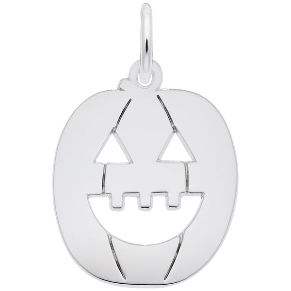 Rembrandt Charms Jack O Lantern Charm Pendant Available in Gold or Sterling Silver