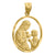 14kt Yellow Gold Mens DC First Communion Ht:28.4mm Religious Pendant Charm