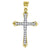 14kt Gold Womens Two-tone DC Cross Ht:35.4mm Religious Pendant Charm