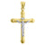 10kt Gold Two-tone Polished Mens Cross Crucifix Ht:54.9mm x W:31.5mm Religious Charm Pendant
