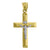 10kt Gold Two-tone Polished Mens Cross Crucifix Ht:49.6mm x W:25mm Religious Charm Pendant