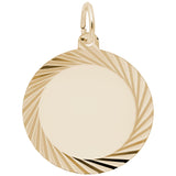 Rembrandt Charms 14K Yellow Gold Round Disc Charm Pendant