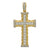 10kt Gold Two-tone CZ Mens Cross Ht:49.2mm x W:24.9mm Religious Charm Pendant