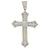 10kt Gold CZ Mens Cross Ht:60.1mm x W:34.3mm Religious Charm Pendant