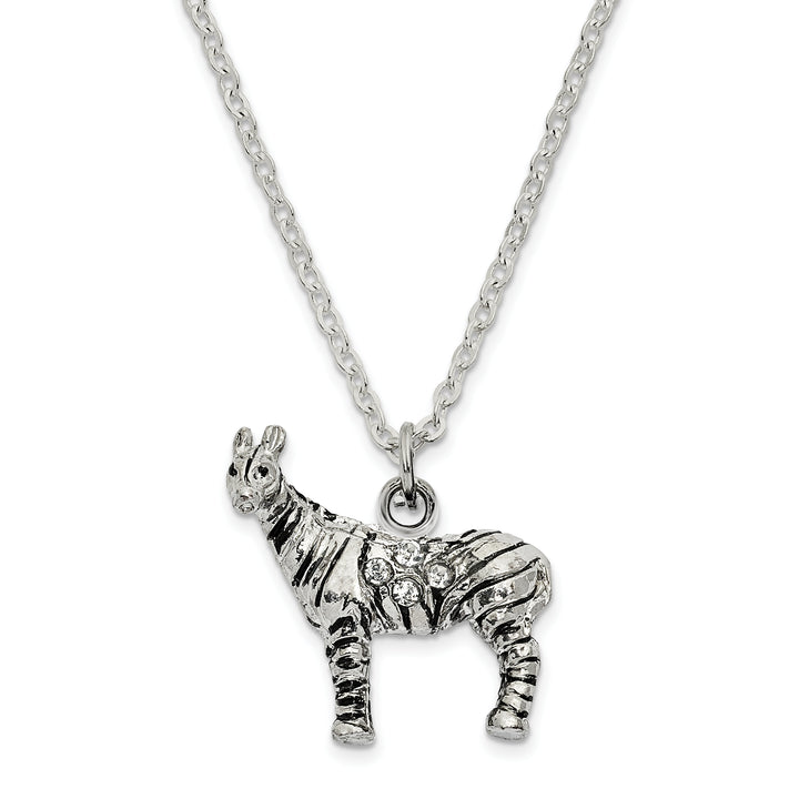 Bejeweled & Full Crystal Zebra Trinket Box with Charm Pendant