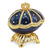 Bejeweled Royal Blue Musical Majestic Egg
