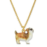 Bejeweled Shih-Tzu Trinket Box with Charm Pendant