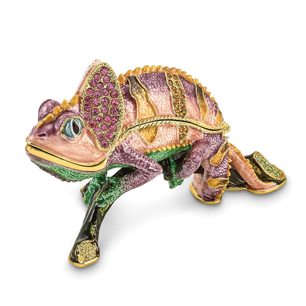 Lux by Jere Bejeweled CAMILLE Chameleon Trinket Box