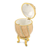 Lux by Jere Bejeweled CAPTIVATING CROWN Champagne Egg Trinket Box