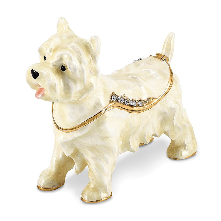 Lux by Jere Bejeweled WESTIE West Highland White Terrier Trinket Box