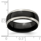 Edward Mirell Titanium Black Ti 8mm Band