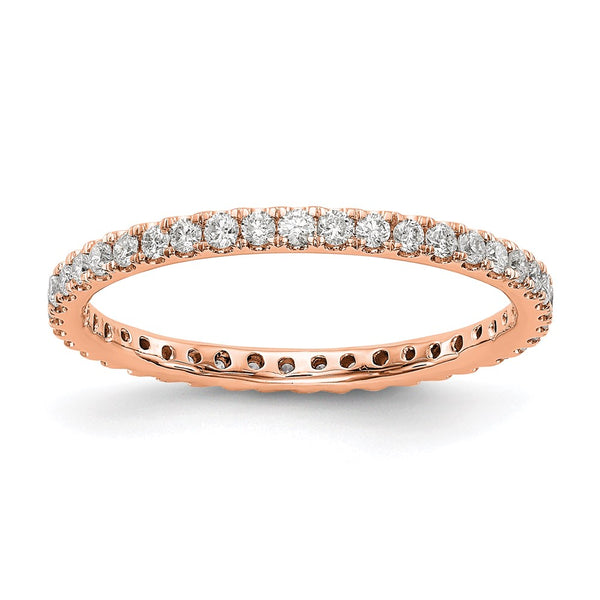 14kt Rose Gold True Origin Lab Grown Diamond VS/SI, D E F, 1/2ct (0.5 Carat) Eternity Band, Ring Size 9