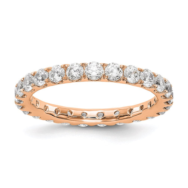 14kt Rose Gold True Origin Lab Grown Diamond VS/SI, D E F, 1 1/2ct (1.5 Carat) Eternity Band, Ring Size 8.5