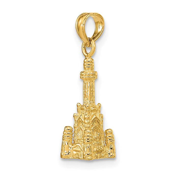 14k Yellow Gold 3D CHICAGO WATER TOWER Charm Pendant