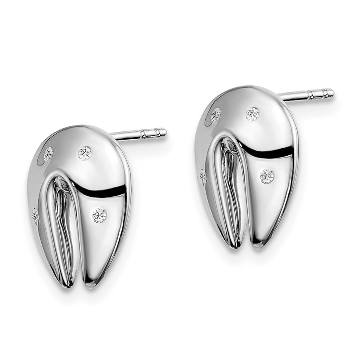 925 Sterling Silver White Ice .045ct. Diamond Earrings