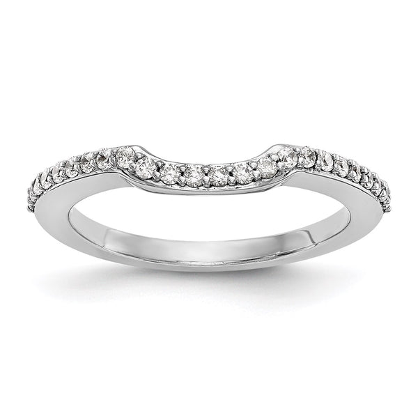 14kt White Gold True Origin Lab Grown Diamond VS/SI, D E F, Wedding Band 0.345 Carat, Ring Size 7