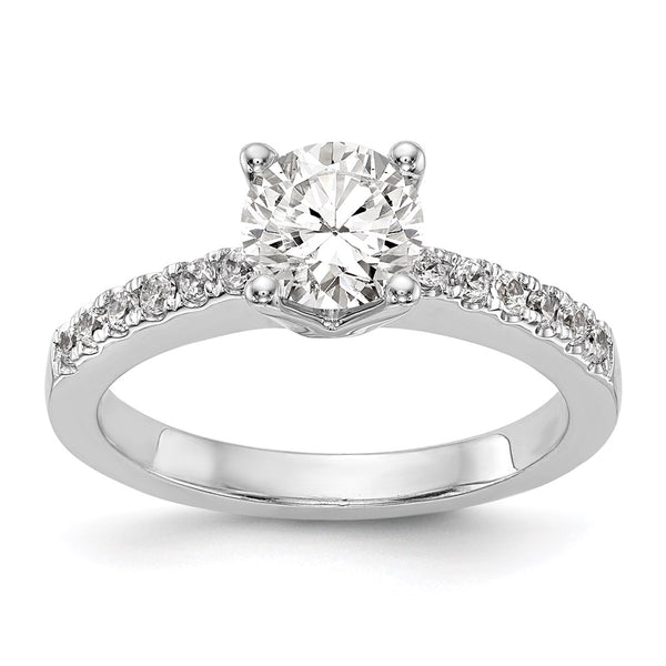 14kt White Gold True Origin Lab Grown Diamond VS/SI, D E F, Semi-Mount Engagement Ring 0.41 Carat, Ring Size 7
