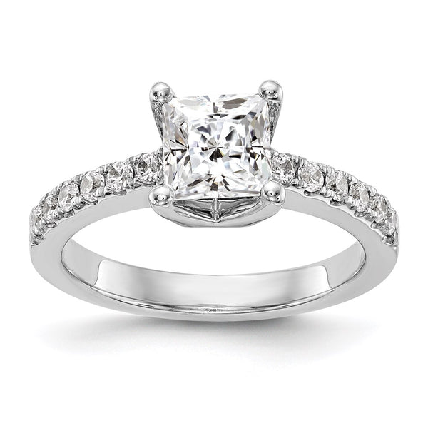 14kt White Gold True Origin Lab Grown Diamond VS/SI, D E F, Semi-Mount Engagement Ring 0.216 Carat, Ring Size 7