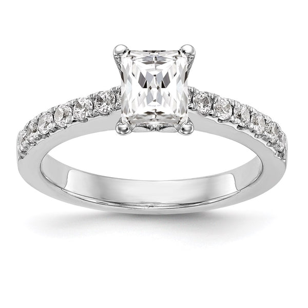 14kt White Gold True Origin Lab Grown Diamond VS/SI, D E F, Semi-Mount Engagement Ring 0.31 Carat, Ring Size 7