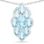925 Sterling Silver Genuine Swiss Blue Topaz Pendant (4.77 Carat)