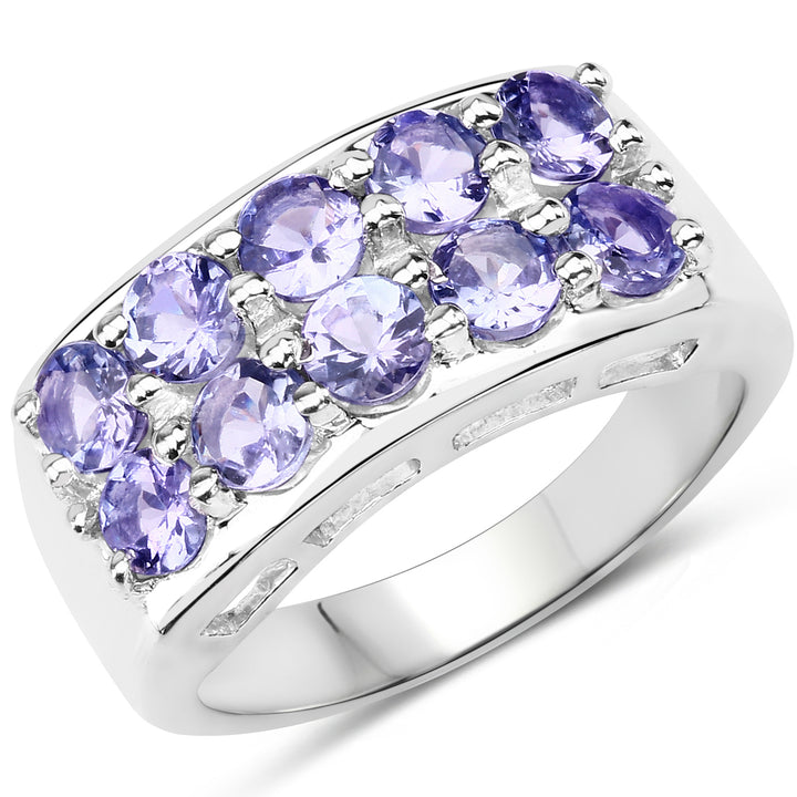 925 Sterling Silver Genuine Tanzanite Ring (1.90 Carat) Size 9
