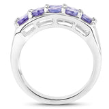 925 Sterling Silver Genuine Tanzanite Ring (1.90 Carat) Size 6