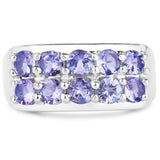 925 Sterling Silver Genuine Tanzanite Ring (1.90 Carat) Multiple Sizes