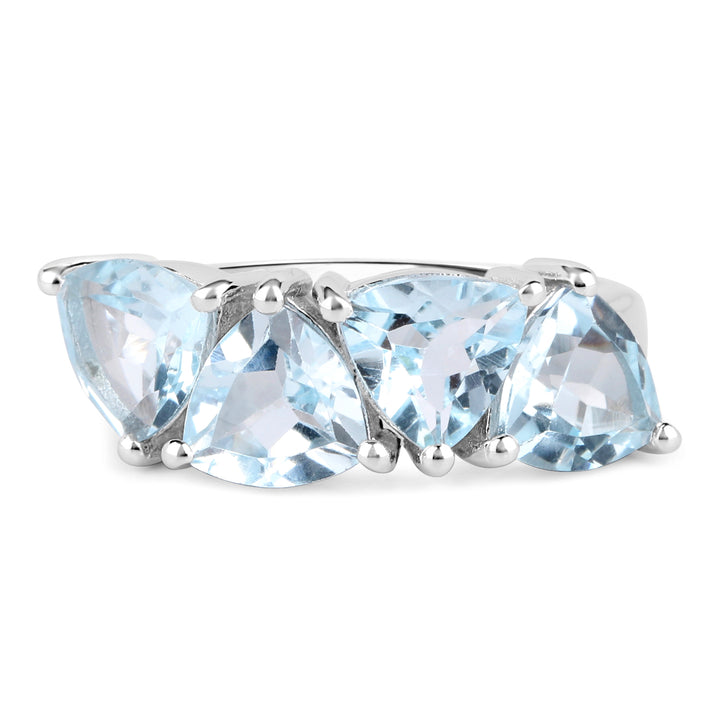 925 Sterling Silver Genuine Blue Topaz Ring (5.00 Carat) Multiple Sizes