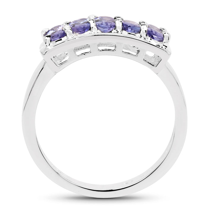 925 Sterling Silver Genuine Tanzanite Ring (1.25 Carat) Size 6