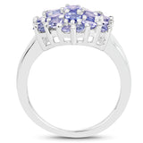925 Sterling Silver Genuine Tanzanite Ring (2.03 Carat) Multiple Sizes